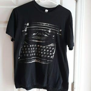 Thursday typewriter band shirt
